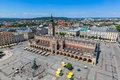 Cracow, Poland. Old town market square and Cloth Hall Royalty Free Stock Photo