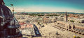 Cracow, Poland panorama. Old town market square and Cloth Hall Royalty Free Stock Photo