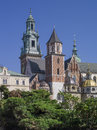 Cracow wawel cathedral tight view of Stock Images