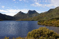 Cradle mountain np australia lake st clair national park tasmania Royalty Free Stock Photo