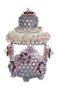 Craft beaded crystal as a decoration on the jar Stock Photography