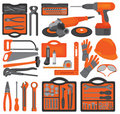 Craft icons – Hand tools (Set 1) Royalty Free Stock Images
