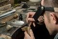 Craft jewelery making. Royalty Free Stock Photo