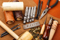 Craft tool for leather accessories Royalty Free Stock Photo