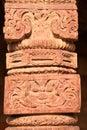 Crafted pillar design beautiful shot of at qutub minar complex in new delhi india Stock Photo