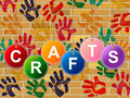 Crafts Craft Indicates Artistic Artist And Draw Royalty Free Stock Photo