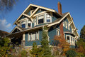 Craftsman Style House Stock Photo