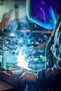 Craftsman weld steel Royalty Free Stock Photo