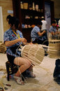 Craftsmanship display ifich chinese skilled craftswomen are plaiting cane handicrafts on the opening ceremony of the th Stock Image