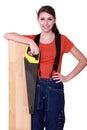 Craftswoman Royalty Free Stock Photo