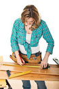Craftwoman at work Royalty Free Stock Image