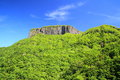 Crag mountain with fresh verdure mt arafune gunma japan Royalty Free Stock Photography