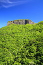 Crag mountain with fresh verdure mt arafune gunma japan Stock Photos