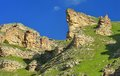 Crag in mountains this is colorful caucasus summer Royalty Free Stock Photo
