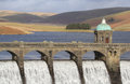 Craig goch dam in elan valley Royalty-vrije Stock Foto's