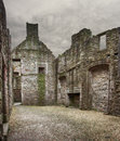 Craigmillar castle ruin edinburgh image of the inside shell of in edinburg scotland Royalty Free Stock Image