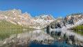 Cramer湖反射,锯齿全国度假区, id 免版税库存照片