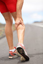 Cramps in leg calves Royalty Free Stock Photos