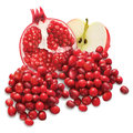 Cranberries, Pomegranate and Apple Royalty Free Stock Photo