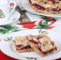 Cranberry Christmas Bars Stock Photo