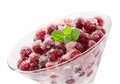 Cranberry dessert isilated on white background Stock Photography