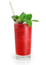 Cranberry fruit drink with mint. Juice Royalty Free Stock Photo