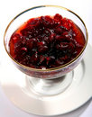 Cranberry jelly Stock Photo