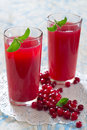 Cranberry juice fresh in a glass Stock Photography