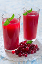 Cranberry juice fresh in a glass Stock Photo