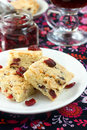 Cranberry and lemon shortbread Royalty Free Stock Images