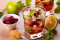 Cranberry mojito christmas and brown sugar Stock Photo