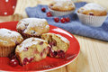 Cranberry muffins Stock Photos