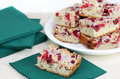 Cranberry Nut  Bar Cookies Stock Photography