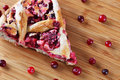 Cranberry Pie Slice Royalty Free Stock Photo
