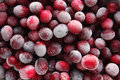 Cranberry texture frozen red berry fruits Royalty Free Stock Images