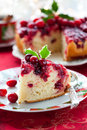 Cranberry Upside Down Cake Royalty Free Stock Images