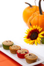 Cranberry-walnut muffins Stock Image