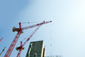 Crane above construction sites Royalty Free Stock Photo