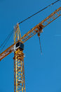 Crane a on a blue sky Stock Image