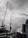 Crane building Royalty Free Stock Photos