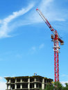 Crane and building construction site Royalty Free Stock Images