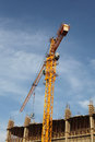 Crane and building house Royalty Free Stock Photo