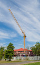Crane and building working Royalty Free Stock Image