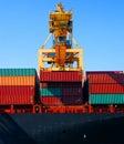 Crane & cargo containers Stock Image