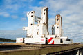 Crane Counterweight Base Royalty Free Stock Photo