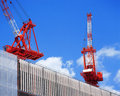 Crane in dock Royalty Free Stock Photo