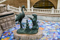 Crane and fox sculpture in moscow russia Stock Photos