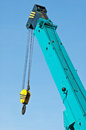 Crane hook with the blue sky Royalty Free Stock Image