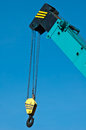 Crane hook with the blue sky Stock Photography