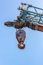 Crane hook on the blue sky a Stock Images